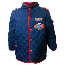 Boys Thomas The Tank Engine Quilted Fleece Lined Jacket Navy Red 1-4 Yrs