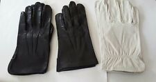 VINTAGE L.L.BEAN  STA-SOFT DEERSKIN LEATHER GLOVES W/REMOVABLE WOOL LINER SZ:M