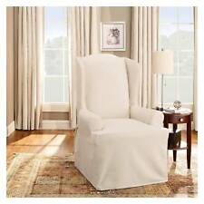Cotton Duck Wing Chair Slipcover - Sure Fit
