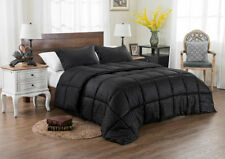 EMBOSS STRIPED COMFORTER 3 PC SET REVERSIBLE SOLID Bedding Full Queen King new