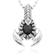 Men's Punk Rock Scorpion King Stainless Steel Pendant Necklace Jewelry Gift