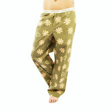Life is Good Artichoke Green Daisy Lounge Pants Pajama Loungepants Sleepwear NWT