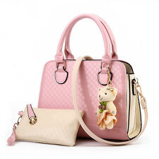 Women Girls Sweety Patent Leather Handbag Tote with small Satchel Shoulder Bag