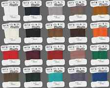 Thread Silamide 2-ply Waxed Nylon ALL COLORS, size A Beading Craft  40-yard card