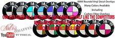 Carbon Fiber Pink Roundel Badge Overlay Decal Sticker Kit FIT ALL BMW Whole Car