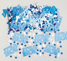 It's A Boy Baby Shower Blue & Silver Party Table Confetti Decoration 1-5pk