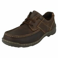 MENS HUSH PUPPIES LACE UP ROUND TOE LEATHER CASUAL SHOES GROUNDS OXFORD