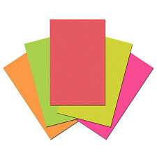 100 Sheets of Quality 80gsm Craft / Copy Paper. Perfect for Printer. Plain Neon