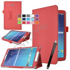"""Smart Leather Flip Stand Case Cover For Samsung Galaxy Tab E 9.6"""" T560 T561 - UK"""