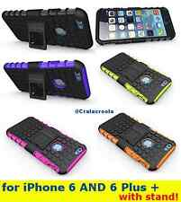 NEW iPHONE 6/6 PLUS RUGGED GRENADE GRIP SKIN HARD CASE COVER with STAND