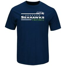 """Seattle Seahawks Majestic NFL """"Line of Scrimmage 2"""" Men's T-Shirt - Navy"""