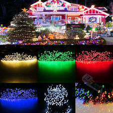 Outdoor 100 LED Solar Powered Fairy String Lights Garden Christmas Wedding Party