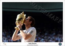 ANDY MURRAY SIGNED PRINT POSTER PHOTO AUTOGRAPH TENNIS WIMBLEDON 2013 DJOKOVIC