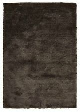 FLOOR RUG CHOCOLATE PLUSH SHAG / SHAGGY CARPET  - XX LARGE - 230 X 320 CM