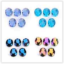 10Pcs Glass Crystal Charms Flat Oval Spacer Loose Beads 20x16mm Jewelry Findings