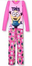 Despicable ME MINIONS 2 piece Fleece girls PAJAMA PARTY OUTFIT SIZE  4 IN GIRLS