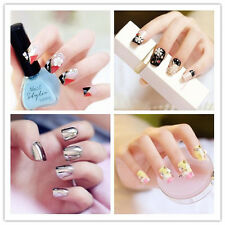 Multi Choices 3D French Manicure Tools Fake Nail Tips Bride False Nails