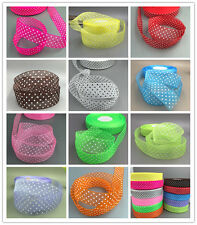 10/100Yards 25mm dot Satin Edge Sheer Organza Ribbon Bow Wedding decoration