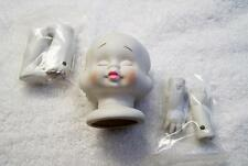 PORCELAIN DOLL MAKING PARTS HEAD ARMS LEGS BABY CHILD CRAFTS ARTS PEOPLE COLL JR