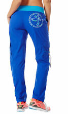 Womens Zumba Workout Dance Cargo Pants Surf Up Blue Sz S XS NWT Free Shipping