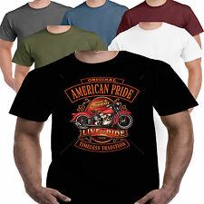 Motorcycle Bike Biker Motorbike T shirt Ride American Kustom Bobber Chopper 109