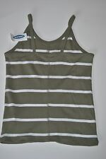 Girl's Old Navy Army Green & White Striped Cami Tank Top, XS, M, L, XL