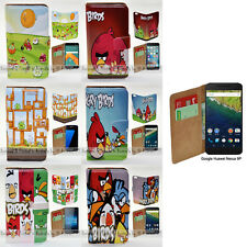 For Google Huawei Nexus 6P - Angry Birds Print Wallet Phone Case Flip Cover