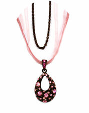 Made with Swarovski Elements Crystal Oval Dome Butterfly Necklace Fashion Gift