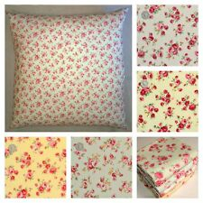 LARGE FLOOR CUSHION COVERS VINTAGE FLORAL ROSES 90 CM OR 100 CM.