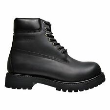 Fuda 6063 Men's High Top Waterproof Smooth Leather Construction Work Boots Black