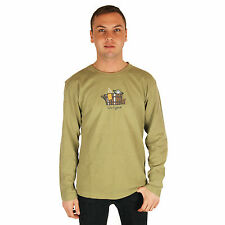 Life is Good Green Hot Tub Jake Long Sleeve Tee Mens Crusher T-Shirt Top NWT
