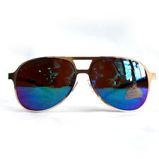Womens Aviator Color Polarized Mirror Lens Flat Metal Frame Sunglasses