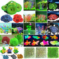 Artificial Coral/ Plastic Plant Ornament Aquarium Fish Tank Decor Decoration New
