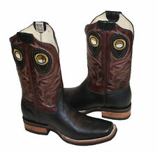 Men's  Cowboy Western Cow Hide Leather  Animal Print  Boots Style #30101  $89.99
