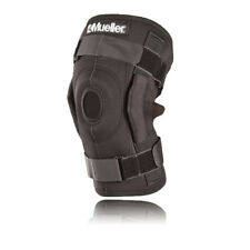 Mueller Hinged Wraparound Mens Womens Black Adjustable Strap Knee Brace