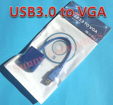 USB3.0 to VGA Cable Video Display Card Graphic External Adapter for Windows 7/8