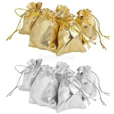 10pcs Drawstring Organza Wedding Favour Gift Bags Candy Jewelry Packing Pouches