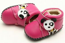 "Freycoo ""Pup"" Hot Pink Girls Soft Sole Leather Shoes 6 to 24 months Baby Toddler"