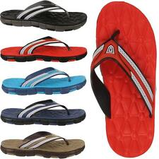 Mens Toe Post Beach Holiday Rubber Flip Flop Sandals Slip On Slippers Sizes 6-11