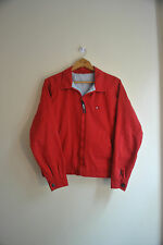Vtg 90s Tommy Hilfiger zip up red harrington jacket rare logo loose skate - XL