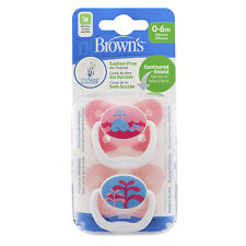 BRAND NEW Dr Brown's Prevent Orthodontic Silicone Soother 0 - 6 months 2 Pack  -