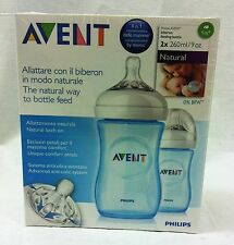 BRAND NEW Philips Avent Natural Bottle Coloured 260ml 2pk  - Breastfeeding Speci