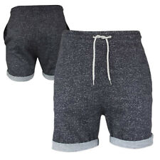 Mens Brave Soul Jogger Marl Casual Summer Fleece Lined Fold Up Hem Shorts S-XL