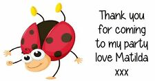 Personalised Ladybird Party Bag Stickers Childrens Birthday Labels Favours Avery