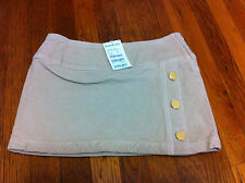 BNWT BeBe Corduroy Beige  Grey Vent Mini Skirt. Original Price 69$. Made In USA