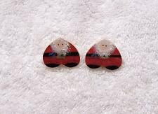 PREOWNED PIERCED EARRINGS CHRISTMAS SANTA KRIS KRINGLE SLEIGH GARLAND NORTH CH0