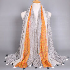 New Women's Lady Fashion Floral Long Soft Voile Scarf Wrap Shawl Scarves Stole