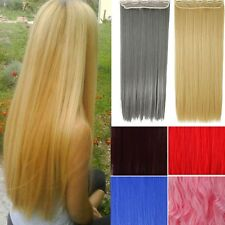 Hot! 3/4 Full Head Clip in Hair Extensions 5Clips As Human Hair 100% Natural H66