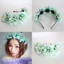 Flower Headband Hair Crown Festival Boho Garland Wedding Prom Hair Accessories