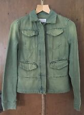 Nicole Farhi Denim Festival Summer Jacket Green/ Blue Size 10